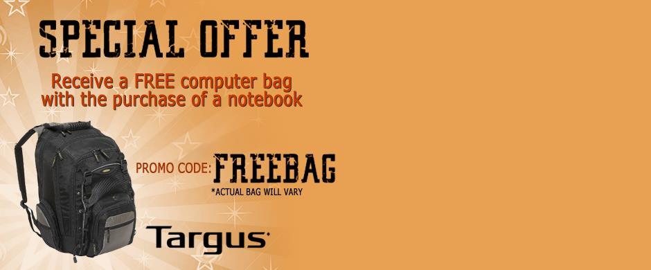 Free Bag with Notebook purchase